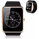 GENORTH 2015 usable Bluetooth Smart Watch GT08 inteligente salud teléfono-reloj con ranura para tarjeta SIM para Android Samsung HTC LG(Todos funcionse) IOS iPhone 5/5s/6/plus(Funciones parciales ) (oro)