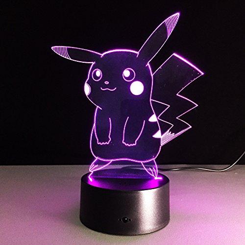 Neue Pokemon Lampe 3D Pikachu Nachtlicht Halloween Kinder Spielzeug Weihnachtsgeschenke USB Lampe Tasche Monster Lampara Fabrik Großhandel (Geist Pokemon Halloween)