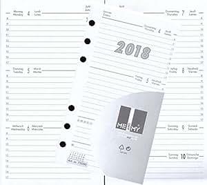 kalendereinlage kalender 2018 a6 f r timer terminer. Black Bedroom Furniture Sets. Home Design Ideas