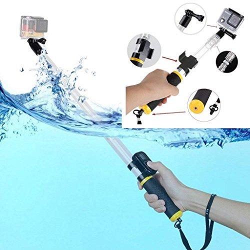 Eluugie Extensible Perche à Selfie Flottant pour GoPro Underwater Monopode Monopode 14-55,9cm étanche Tige télescopique à la Main Grip pour GoPro Hero Session DE 5, 4, 4S, 1Caméras HD