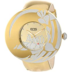 EOS New York Damen 53SGLDSIL Jasmine Gold Silber Leder Uhr