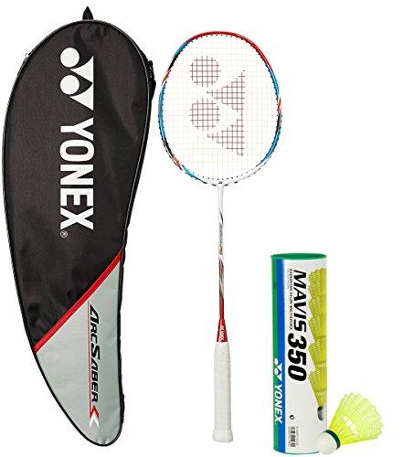 Yonex Arcsaber FD & Mavis 350 Combo (Arcsaber FD Badminton Racquet + Mavis 350 Pack of 6 Shuttlecock)  available at amazon for Rs.5741