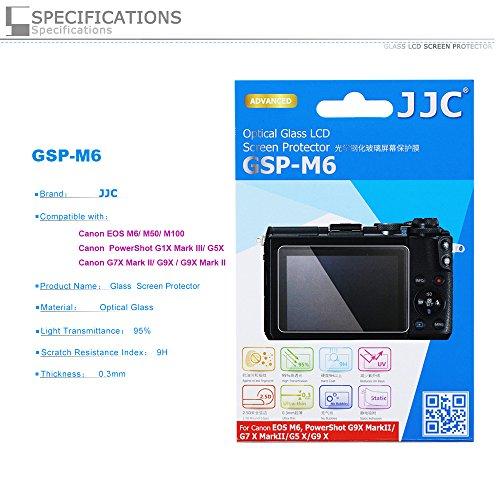PROfoto.Trend/JJC Ultra-sottile Schermo LCD in Vetro Ottico per Canon EOS M6 /PowerShot G5 X/ G7 X Mark II/ G9 X / G9 X Mark II