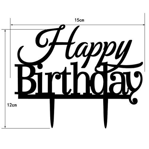 Vkospy Alles Gute zum Geburtstag-Party-Kuchen-Deckel Acryl Cupcake Ständer für Geburtstags-Party-Kuchen-Dekor