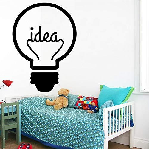 WSLIUXU Idee Laden Wandaufkleber Lampe Licht Fenster Auto DIY Aufkleber Decals Vinyl Silhouette Clip Art Vektor Zeichnung Schneiden Hause GELB XL 58 cm X 80 cm