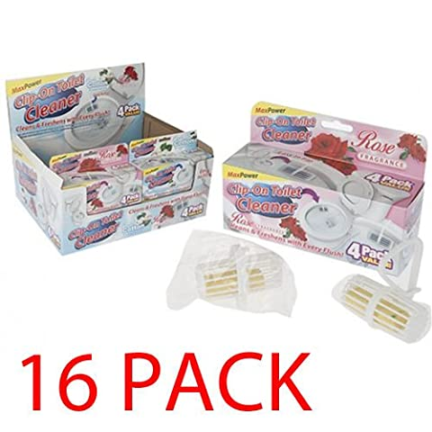 16 PACK SCENTED CLIP ON TOILET CLEANER REFRESHING RIM BOWL GERM SANITISER NEW