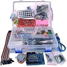 Kuman K4D Kit para Arduino UNO 3Uno R3,microcontrolador y accesorios, para principiantes, más de 50 piezas, incluyendo la tarjeta Relay