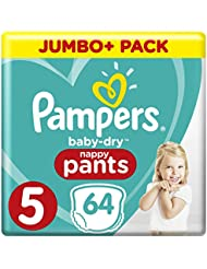 Pampers Baby-Dry 64 Nappy Pants, 11 - 18 kg, Size 5