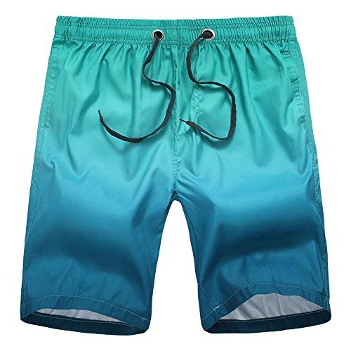 Eastlion Sommer Schnell Trocknend Kurze Hose Gradient Farbe Herren Strand Hosen