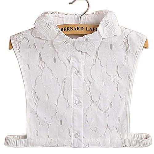 Preisvergleich Produktbild Einfache stilvolle abnehmbare Kragen Fake Shirt Kragen Allzweck Zubehör für Frauen, H