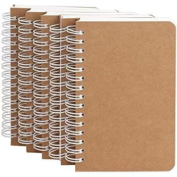 DIN A6 5x Schreibset bestehend aus Kugelschreiber und Spiral-Notizbuch ca