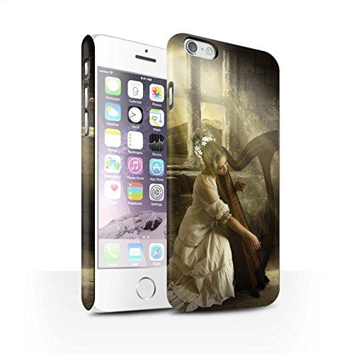 Officiel Elena Dudina Coque / Clipser Matte Etui pour Apple iPhone 6 / Chanson de Fleurs Design / Réconfort Musique Collection Harpe/Harpiste