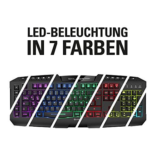 Sharkoon Skiller Pro Plus beleuchtete Gaming Tastatur (Onboard-Speicher, Multi-Key-Rollover-Unterstützung) schwarz - 2