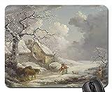 Gaming-Mauspads, Mauspad, George Morland Malerei Öl auf Leinwand Künstlerisch 1