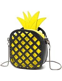 KOROWA PU-Leder-Leder-Schulter-Beutel-Ananas-Form-Ketten-Handtaschen-Kurier-Beutel