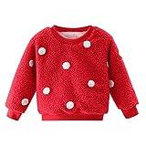 Cuteelf Kinder Langarm Plus samt dicken Pullover Oben niedlichen Ball Ball Fleece Kind Jungen Mädchen dicken Pullover Sweatshirt Oben warme Kleidung