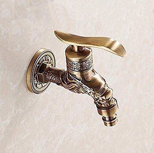 Messing Outdoor Garten Bronze Antike Wasserhahn Waschmaschine Bad Toilette WC Wasserhahn Wand Kalt Rdp Wasserhahn