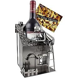 Brubaker - Porte-Bouteille de vin - Artisan/Rénovation Maison - Métal - Carte de vœux Incluse - Idée Cadeau Originale - Objet décoratif