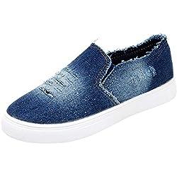 Zapatillas Deportivas Moda De Mujer Zapatos De Mezclilla