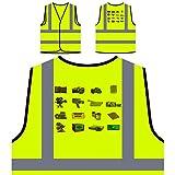 Kamera Sammlung Foto Fotograf Personalisierte High Visibility Gelbe Sicherheitsjacke Weste b195v