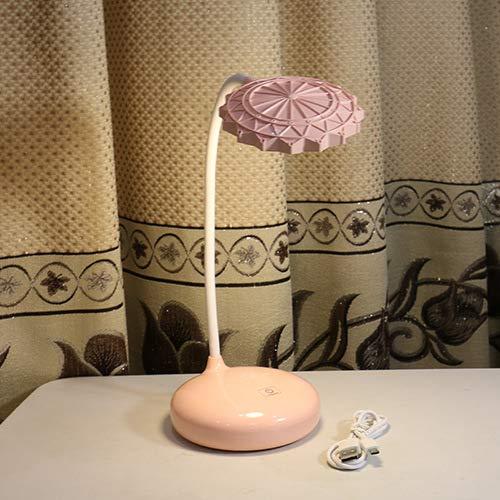 ibtischlampe wiederaufladbare college schlafsaal led touch schreibtischlampe schlafzimmer lesen augenschutz nachttischlampe riesenrad rosa 12 * 12 * 38 ()