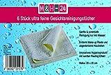 Gesichtsreinigungstücher, Kosmetiktücher aus Microfaser 6 Stück - sanfte porentiefe Reinigung (ultra fein)