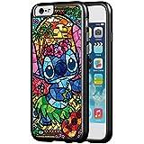 Disney Lilo & Stitch Stained Glass Hard Phone Case for Funda iPhone 6/6s PLUS (5.5 Inch) Z0B1OFU