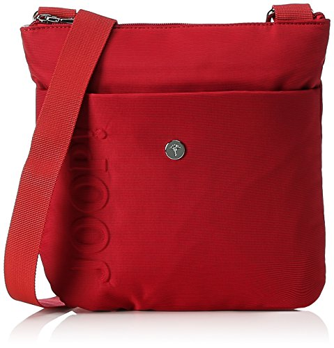 Joop Damen Nylon Naviga Dia Shoulderbag Mvz Schultertasche, 3x25x24 cm Rot (Red)