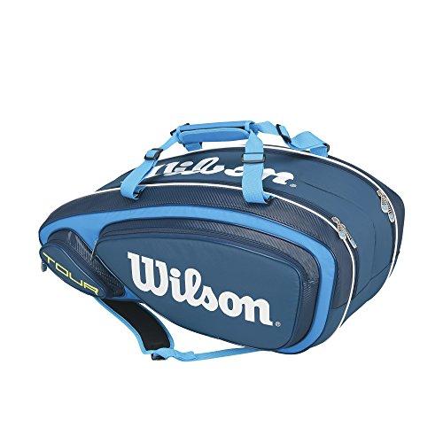 Wilson Erwachsene Sportsack Tour V 9 Pack BL, Blau, 76 x 30.5 x 33 cm, 76 Liter, 0887768377786