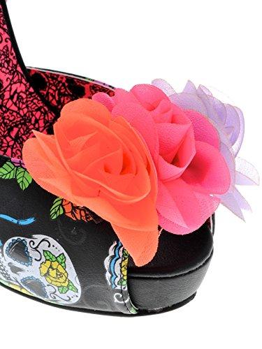 Iron Fist  Sweet Tooth Flower Platform, Semelle compensée femme Noir - noir