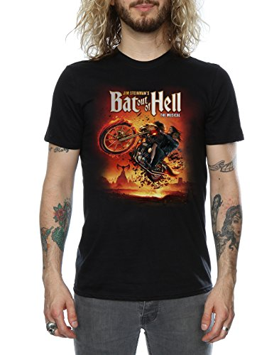 Bat Out Of Hell Herren Musical Song Titles T-Shirt Schwarz