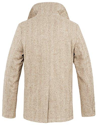 Brandit Pea Coat Oversize Jacke schwarz Beige