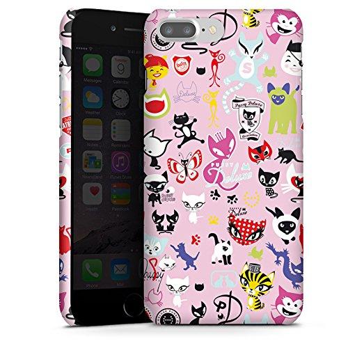 Apple iPhone X Silikon Hülle Case Schutzhülle Comic Katzen Muster Premium Case glänzend