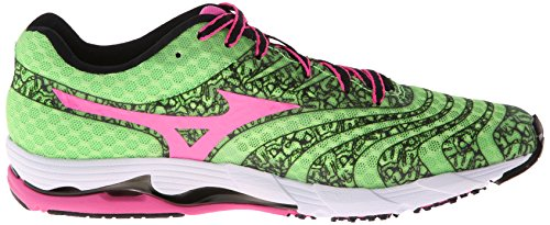 Mizuno Wave Sayonara 2 Synthétique Chaussure de Course Green Flash-Electri-Black