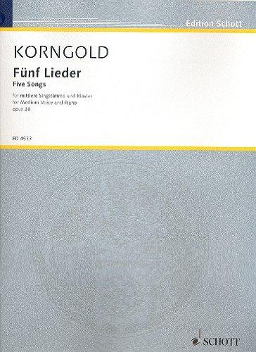 5 Lieder op.38 : für mittlere Stimme und Klavier (dt/en)