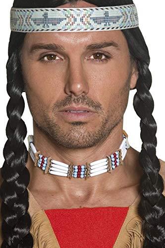 Smiffys Unisex Indianer Halsschmuck, One Size, Weiß, 33229 (Ideen Up Western-dress)