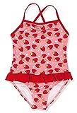 Playshoes Mädchen Einteiler UV-Schutz Badeanzug Erdbeeren, Rosa (Original 900), 122/128