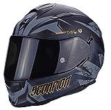 SCORPION Motorradhelm EXO-510 AIR CIPHER Integralhelm schwarz-matt-gold Sonnenblende Größe M 57/58