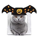 Idepet Halloween Cappottino Cane,Vestiti Cane Piccola Taglia per Animale Domestico Cane Gatto per Natale Halloween Festa Arancia Nero L (Cappello)