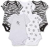 Mothercare Boy's Zebra - 5 Pack Onesie, White (Black/White), 3-6 Months (Manufacturer Size:68)