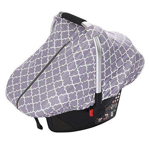 iBaste Baby Sonnenschutz für Babyschale Sonnenverdecke Baby Autositze Eingriffsöffnung für Tragegriff