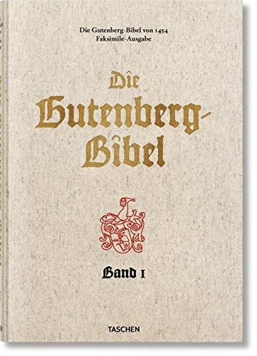 Die Gutenberg-Bibel von 1454 Buch-Cover