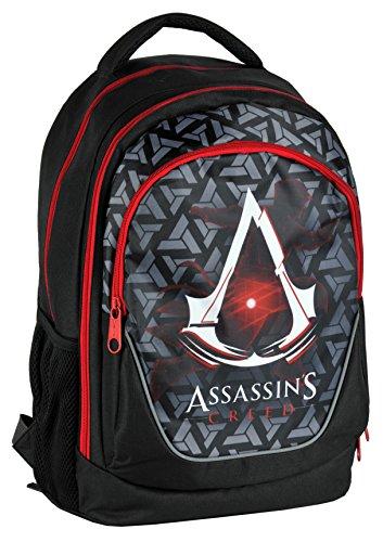 Assassin's Creed – Schulrucksack in schwarz / rot