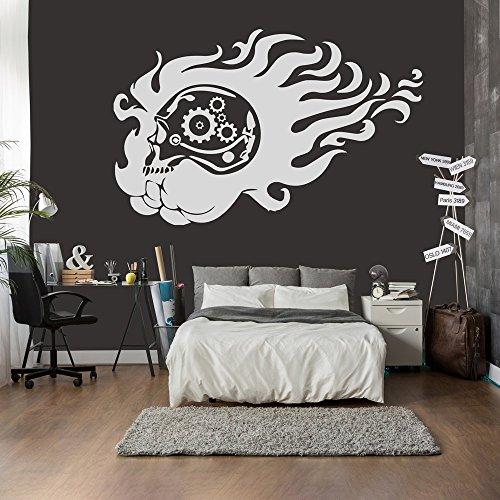 del-Getriebe Wandaufkleber Halloween Wandtattoo Gruselig Wohnkultur verfügbar in 5 Größen und 25 Farben X-Groß Weiß (Halloween Getriebe)