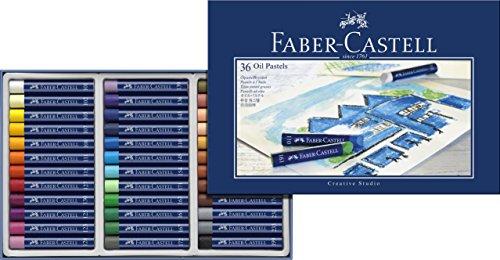 Faber-Castell 127036 – Estuche de cartón con 36 pasteles de aceite, multicolor