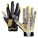 GRIP BOOST Stealth Pro Elite 2018 American Football Receiver Handschuhe - schwarz/gelb Gr. L