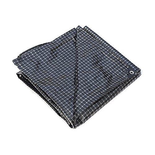 CAOYU Bâche imperméable à l'eau Solaire Tente Tissu Camion Marine Coupe-Vent étanche à la poussière Polyester léger, Grille Noire et Blanche (Couleur : Grid, Taille : 5X6M)
