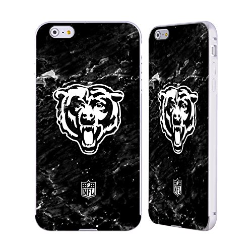 Ufficiale NFL Marmo 2017/18 Chicago Bears Argento Cover Contorno con Bumper in Alluminio per Apple iPhone 5 / 5s / SE Marmo