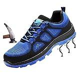 tqgold Damen Herren Sicherheitsschuhe S3 Sportlich Trekking Wanderhalbschuhe Stahlkappe Arbeitsschuhe Hiking Schuhe