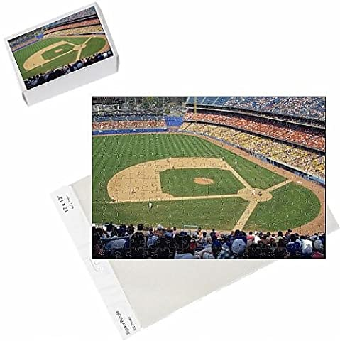 Photo Jigsaw Puzzle of Crowds watch baseball game at the Dodgers Stadium in Los Angeles